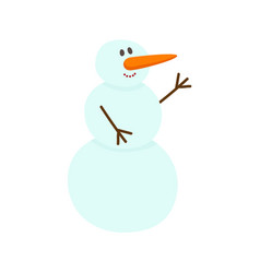 flat snowman isolated vector image