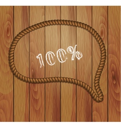 frame of rope and wood background vector image
