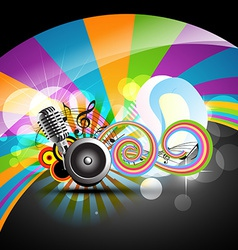music theme design vector image