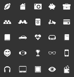 Personal data icons on gray background vector