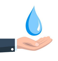 save water concept vector image vector image