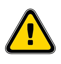 triangular warning hazard symbol vector image vector image