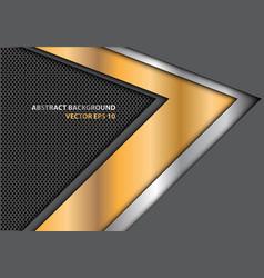 abstract gold silver arrow direction gray mesh vector image