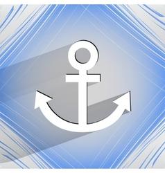 Anchor Flat modern web design on a flat geometric vector image