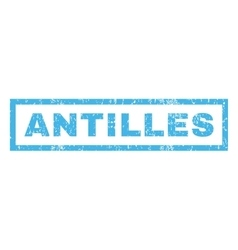 Antilles Rubber Stamp vector image