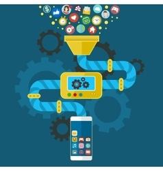 App development for mobile phone vector