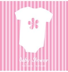 Baby shirt vector