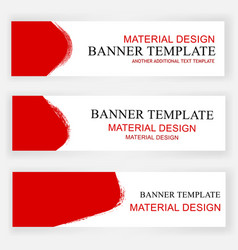 Banner - scribble - red and white - crayon - set vector