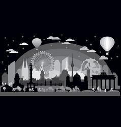 Berlin skyline at night vector