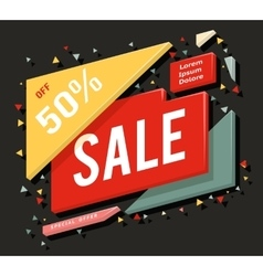 Big sale advertising banner layout special offer vector image