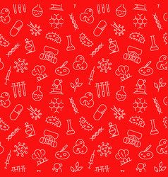 biological research seamless pattern vector image