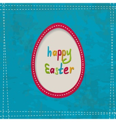 blue greeting card with an egg frame vector image