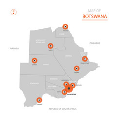 botswana map with administrative divisions vector image