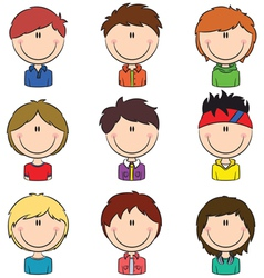 Boys avatar vector image