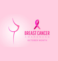 breast cancer october awareness month banner vector image