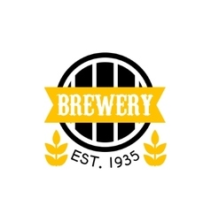 Brewery Logo Design Template vector