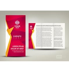 brochure folder design cmyk no transparent vector image
