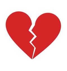 broken heart cartoon icon image vector image