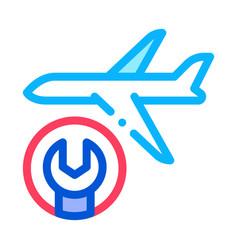 calendar plane icon outline vector image