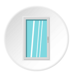 Closed white window icon circle vector