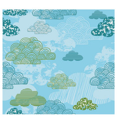cloud kids theme pattern vector image