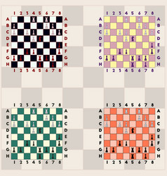 Collection chess boards various chess vector