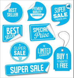 collection modern sale stickers and tags 3 vector image