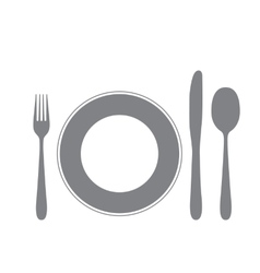 cutlery isolated on white vector image