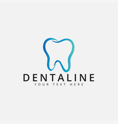 dental logo design template isolated vector image