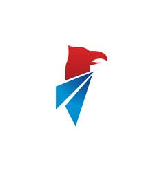 elegant eagle logo design template vector image