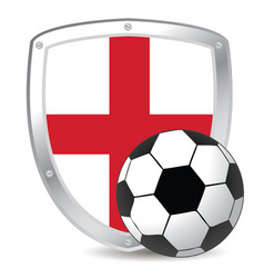england shield soccer vector image