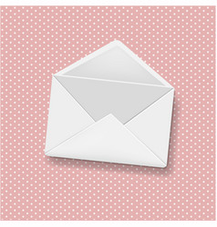 envelope pink background vector image