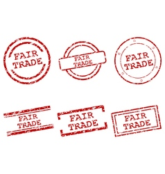 Fair trade stamps vector