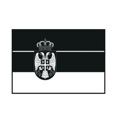 Flag of serbia monochrome on white background vector