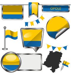 flag opole poland vector image