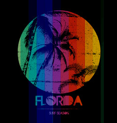 florida summer tee graphic design vector image