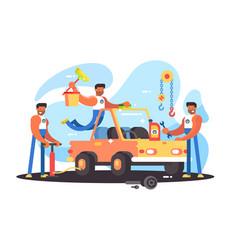 full auto repair vector image