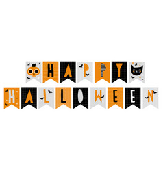 funny abstract hand drawn halloween bunting flags vector image