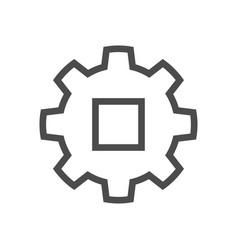 gear engineering icon vector image