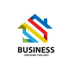 Geometric house logo vector