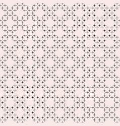 geometric texture dots in diagonal grid vector image
