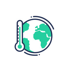Global warming - modern single line icon vector