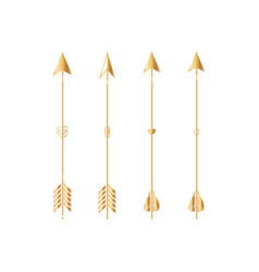 gold arrows isolated on white background vector image