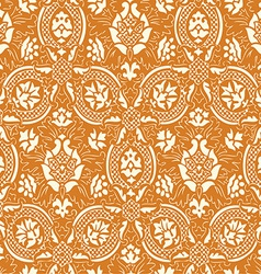 Gold lace Seamless abstract floral pattern vector image