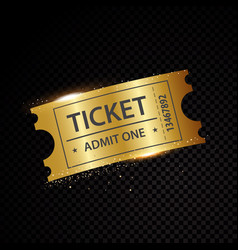 Golden tickets and coupons templates vector