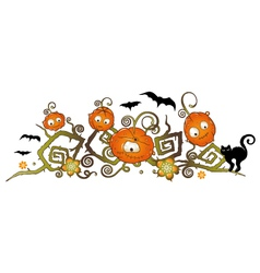 Halloween border vector