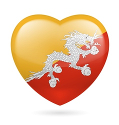 Heart icon of Bhutan vector image