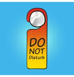 Hotel tag do not disturb vector