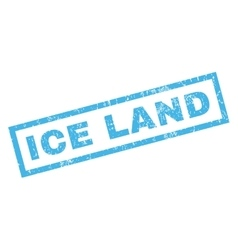 Ice land rubber stamp vector