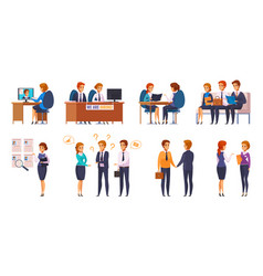 Job applicants interviewers collection vector
